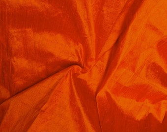 Silk Dupioni in Saffron - Fat Quarter -D 56
