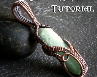 TUTORIAL - Ornamental Cage Wrap - Pendant Lesson - Wire Wrapped Point Necklace - Crystal Point Wrap or Stone Doublle Terminated Wire Weave