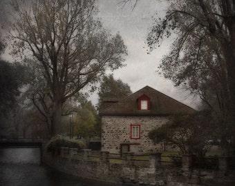 Montreal Art Architecture Art Dark Grey Lachine Canal Landscape Photography Fall Quebec Artist Romantic Art