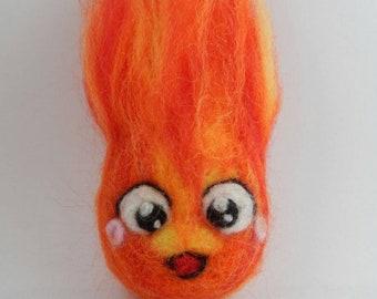 Kawaii Chibi Neede felt inspired fire demon Calcifer
