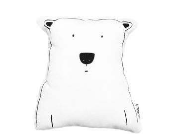 Percy the Polar Bear Soft Toy Pillow by The Wild - Stuffed Toy, Plushie, Stuffed Animal, Baby Toy, Bear Stuffie