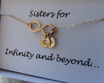 Infinity Necklace, Personalized Necklace, Gold Necklace, Silver Necklace, Dainty Necklace, Charm Necklace, Bridesmaid Necklace