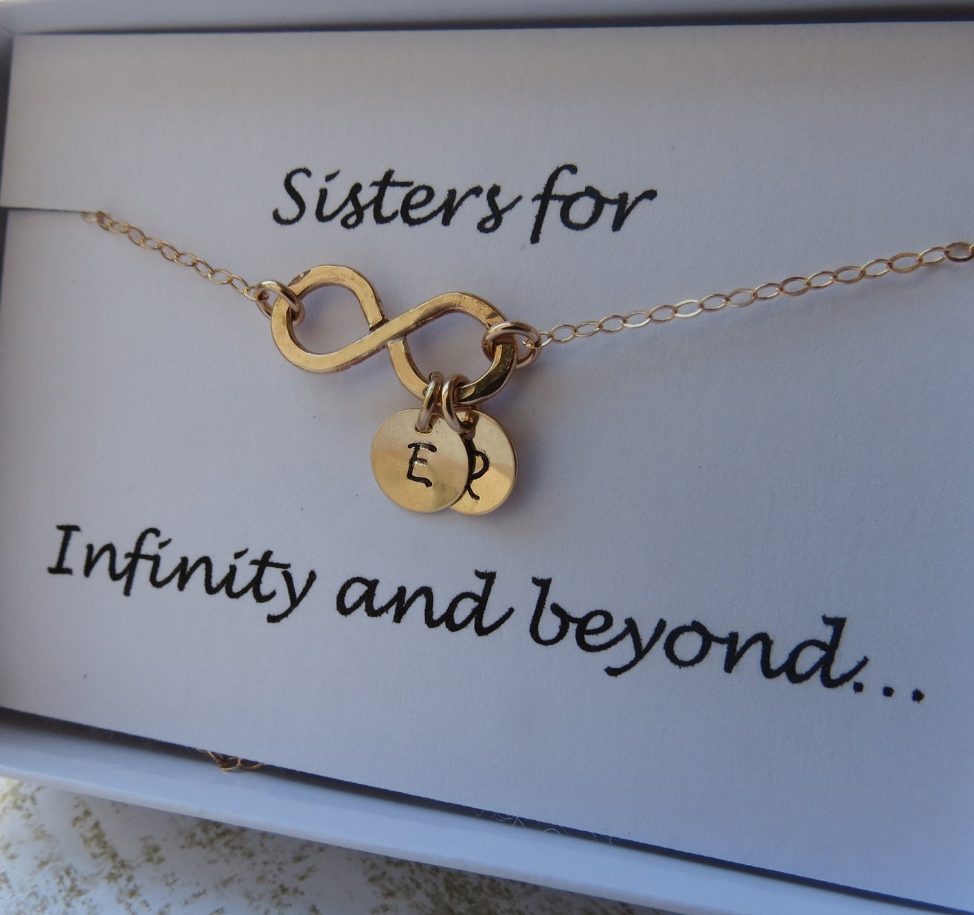 Infinity necklace personalized necklace gold necklace zoom mozeypictures Gallery