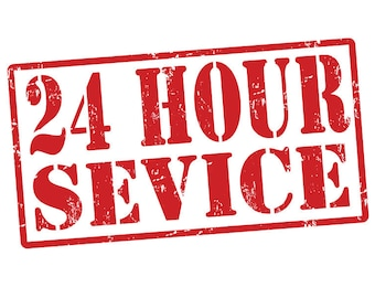 24 HOUR RUSH ORDER *** 24 hour order completion even on weekends