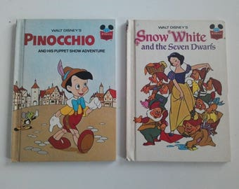Two beautiful children's books of the very popular vintage collection: Disney's wonderful world of reading