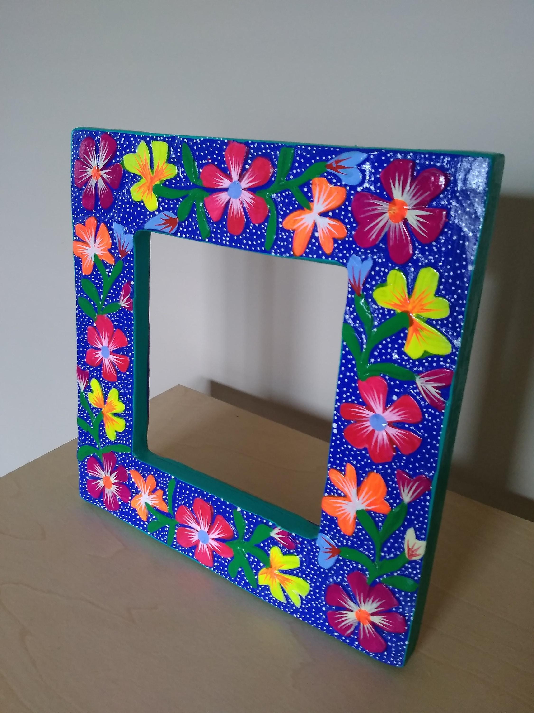 Oaxaqueño foto marco mexicana arte popular-Oaxaca México