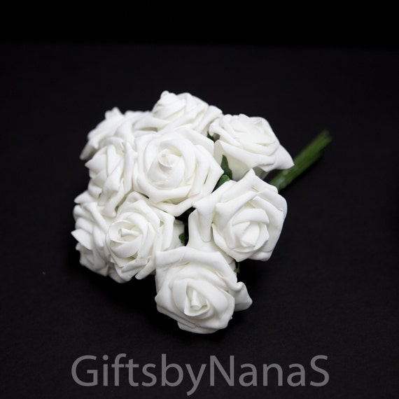 White foam roses bulk white roses real touch flowers white silk white foam roses bulk white roses real touch flowers white silk roses wedding flowers white roses for bouquets wedding flowers from giftsbynanas on mightylinksfo