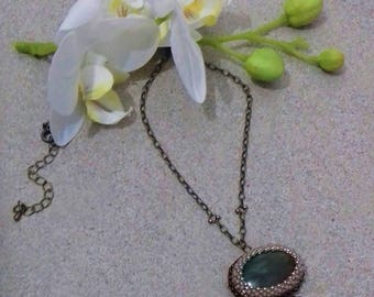 Long necklace set Jade stone