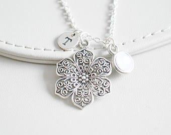 Flower Girl Gift, Flower Girl Necklace, Flower Girl Present, Flower Girl Jewelry, Gift for Flower Girl, Bridal Jewelry, Bridal Gift, Summer