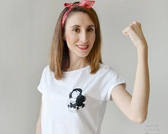 "WOMAN T-SHIRT ""Wonder woman"", women's short sleeve t-shirt, white t-shirt, mom gift, girl gift"