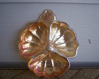 Vintage Carnival Glass Iridescent Dish