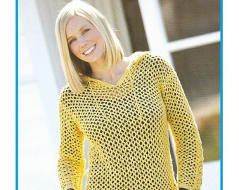 Instant Download - PDF-  Pretty Hooded Top Crochet Pattern (AD66)
