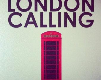 LONDON CALLING telephone booth print