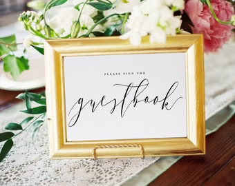 Guest Book Sign, Calligraphy, Wedding Guest Book, Sign For Guest Book