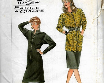 Simplicity 8230      Misses Dress or Tunic  and Slim Skirt    Size 8-14      Uncut