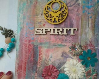 Junk journal. Art journal. File folder journal. Smash book. Painted paper journal. USA Shipping included.