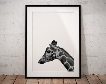 Giraffe Print Art, Safari Nursery, Giraffe, Nursery Wall Giraffe, Safari Nursery Art, Giraffe Art, Giraffe Print, Safari Nursery Print