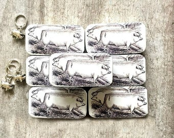 Mini Pig tin with or without pig stitch marker