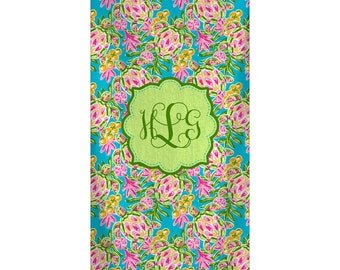 Personalized Custom Bath-Beach Towel -  Sea Turtle Design with Personalization of your choice