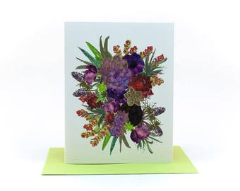 succulants and flowers floral bouquet | thinking of you card | just because cards | sympathy cards | friendship birthday | encouraging cards