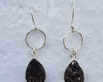 Sterling silver earring with natural druzy stone purity 92.5%