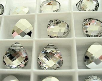 4 Crystal CAL Swarovski Pendants Briolette 6012 15mm