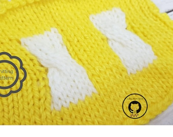 2 Color Twisted Knitting Pattern / Twisted Knitting Pattern / Easy Knitting Pattern /  Knitting Pattern for Beginners