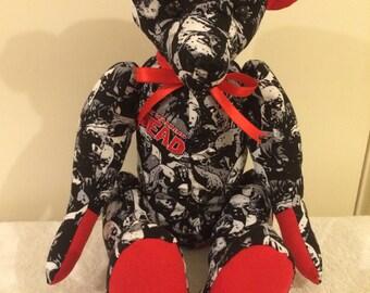 Handmade fabric bear