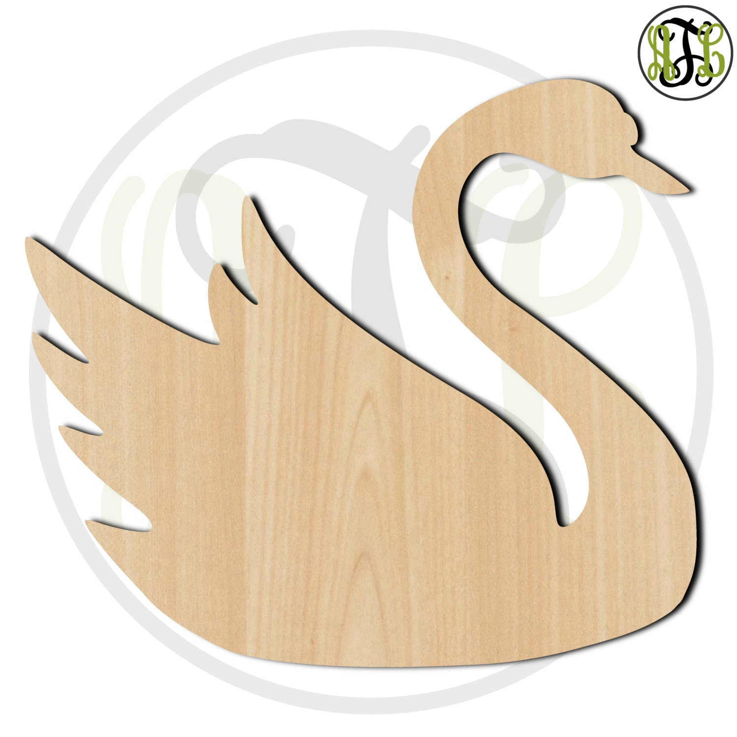 Swan- 230045- Bird Cutout, unfinished, wood cutout, wood craft ...