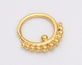 Gold helix earring. tragus earring. tragus hoop. tiny hoop earrings. tragus jewelry. tiny earrings. helix earring. cartilage earring.