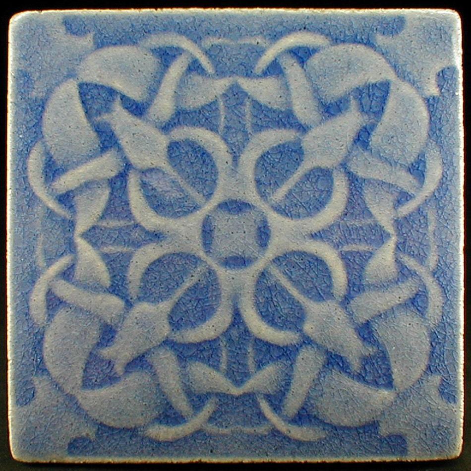 Tulip tile Ceramic tile backsplash tile fireplace tile art