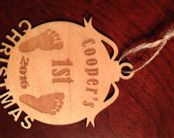 Ornament- Baby 1st Christmas - Laser Engraved