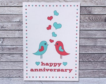 Bird Anniversary Card