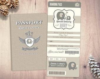 Passport baby shower etsy passport and ticket baby shower invitation coed baby shower invitation travel baby shower couples baby shower digital files only filmwisefo