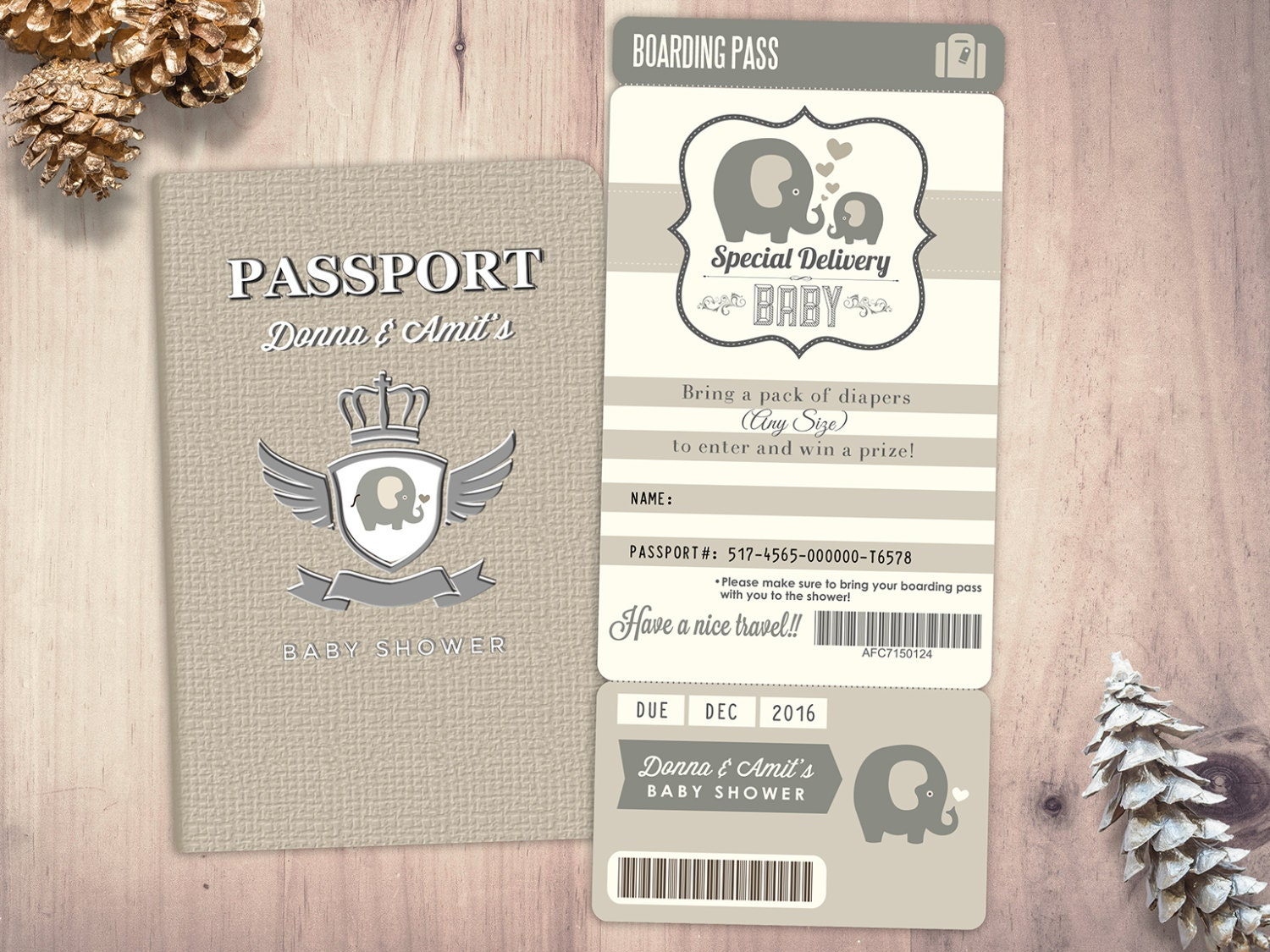 Passport and ticket baby shower invitation coed baby shower passport and ticket baby shower invitation coed baby shower invitation travel baby shower couples baby shower digital files only filmwisefo Image collections