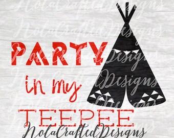 Teepee svg - Teepee png - Tribal svg - Tribal png - Silhouette cut file - Cricut cut file - Vinyl Plotter