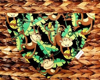 "Monkey Business"" Reversible Collar Bandana"