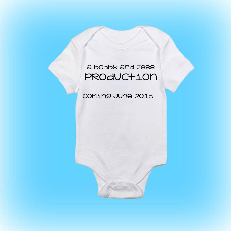 Baby Announcement esie Pregnancy Announcement Pregnancy