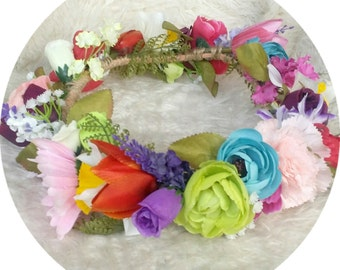 I love.. Candy Coloured Flower Crown