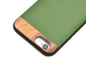 Leather iPhone 7 Case, iPhone 7 Case with Green Leather - LTR-GR-I7
