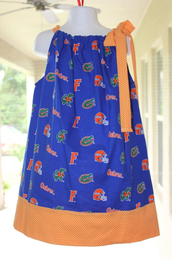 Florida Gators Pillowcase Dress,Handmade, Game Day Dress, University of Florida Dress, Baby Dress Girls Dress, Toddler Dress, Preteen Dress