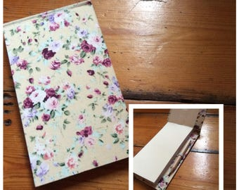 Jotter Notebook with Pencil/handmade notebook/shopping lists/handbound notebook/pocket book