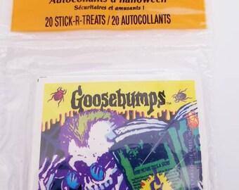 R.L. Stine's Goosebumps Sticker pack of 20 Hallmark 1995 Stick-R-Treats