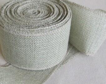 5 inch SAGE  burlap ribbon
