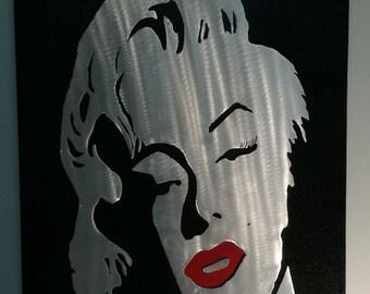 Modern Wall Sculpture ''Marilyn Monroe'', Contemporary Metal Art, Metal Wall Decor, Modern Home Decor, Metal Wall Art, Metal Wall Sculpture