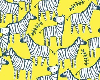 Hakuna Matata, Dear Stella Fabric by the Yard, Banana Zebraville, ST-971BANA