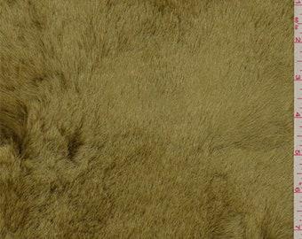 Ochre Gold Faux Fur, Fabric By The Yard