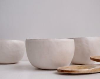 Handmade white ceramic tea bowl, white ceramic serving bowl, white ceramic ring dish, white stoneware ceramic bowl, white ceramic dish, bowl