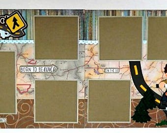 All American Boy Double Page Scrapbook Layout