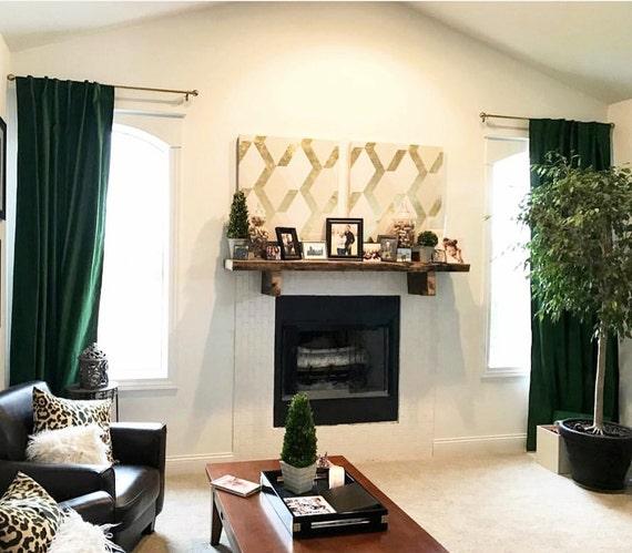 Luxury Velvet Curtains Emerald Green Velvet Window